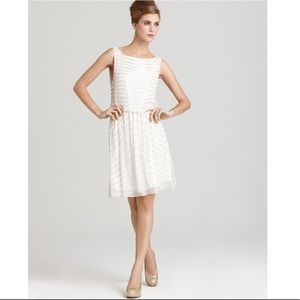 Alice + Olivia White Beaded Gisel Dress